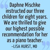 North Scottsdale Piano Lessons Daphne Mischke